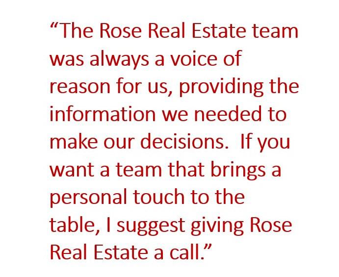 Rose Real Estate referral